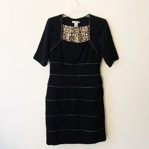 WD.NY Black Dress with Zipper Accents